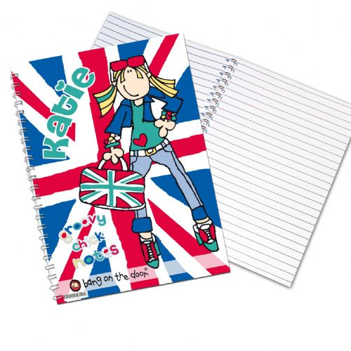 Personalised Bang on the Door London Chick Notebook